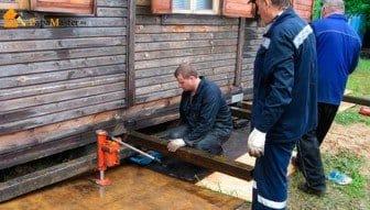 Как поднять деревянный гараж своими руками 90