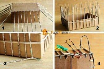 Плетение коробки из бумаги своими руками 64