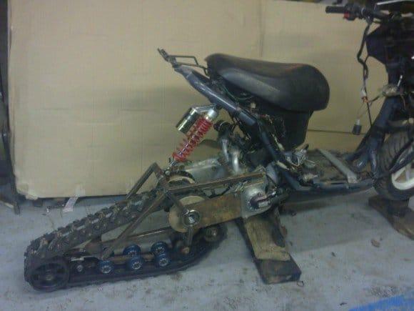 Сделай своими руками снегоход с мотоциклами