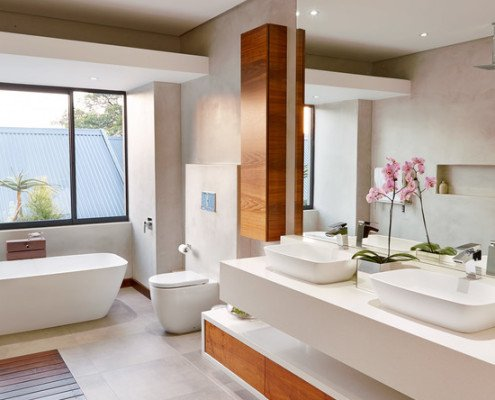 Дизайн великої ванної кімнати фото