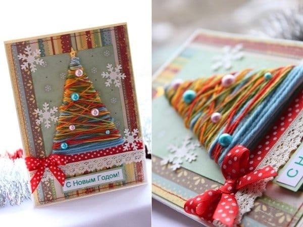 Новогодними открытки своими руками 609