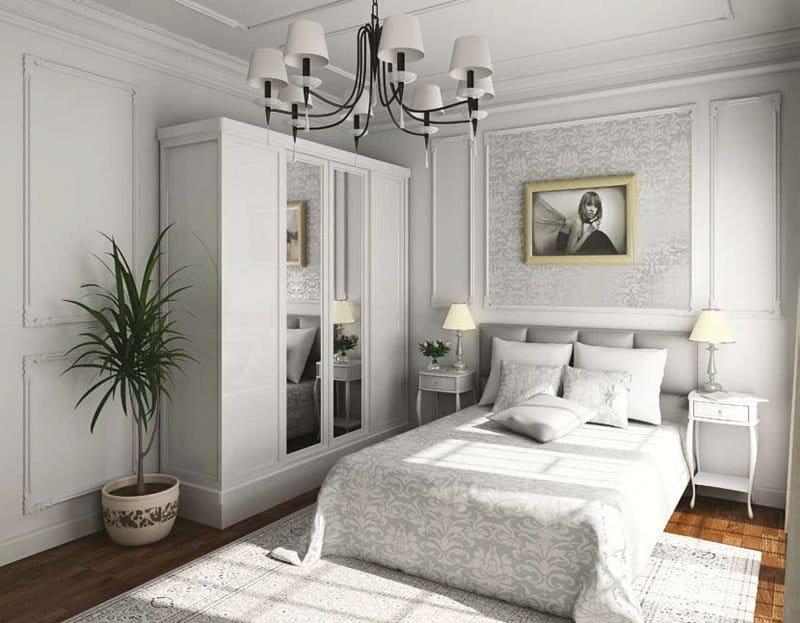 фото спален с белой мебелью одна научных разработок