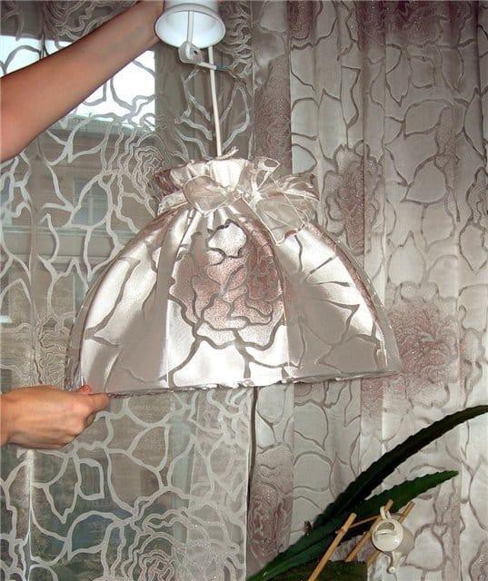 Торшер своими руками из ткани 80