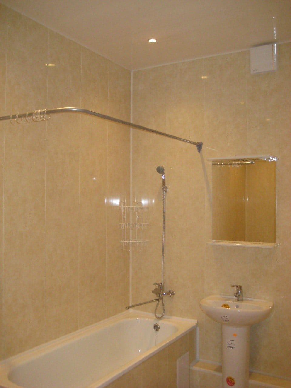 Панели пвх стеновые в ванной своими руками 650