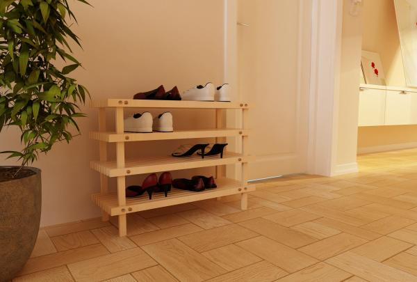 Деревянная этажерка для обуви своими руками 52