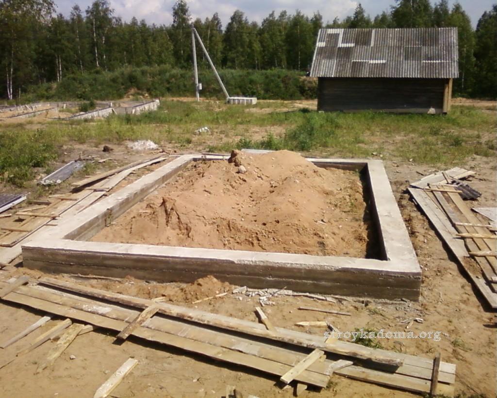 Как залить фундамент под строительство дома 53