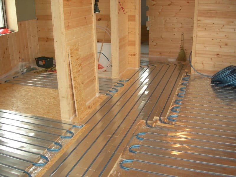 Как сделать теплый пол на деревянном полу  728