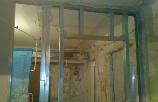 Как сделать стену из гипсокартона с дверным проёмом фото