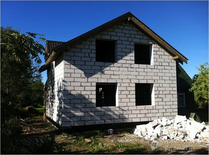Дом из твинблока своими руками