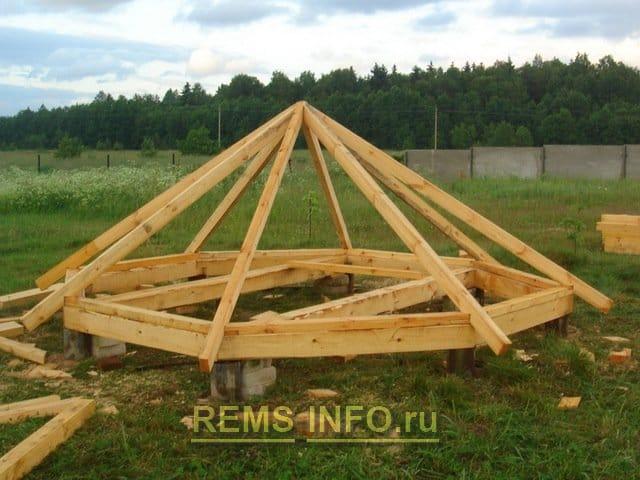 Как сделать крышу для шестигранной беседке своими руками