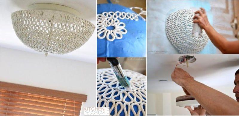 Как украсить светильник бра своими руками 3