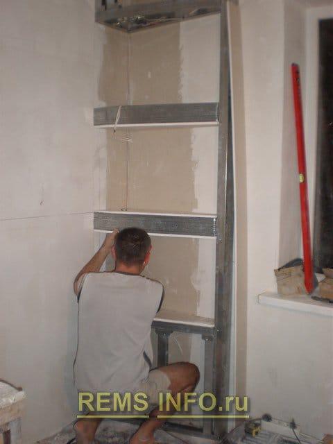 Как заделать стену гипсокартоном своими руками 91