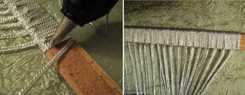 Как сделать шторы нитки своими руками 89