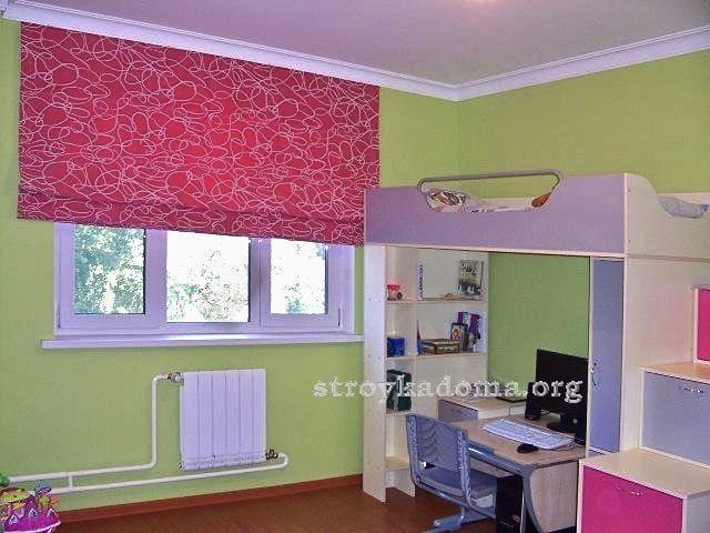Римские шторы своими руками в детскую комнату 61
