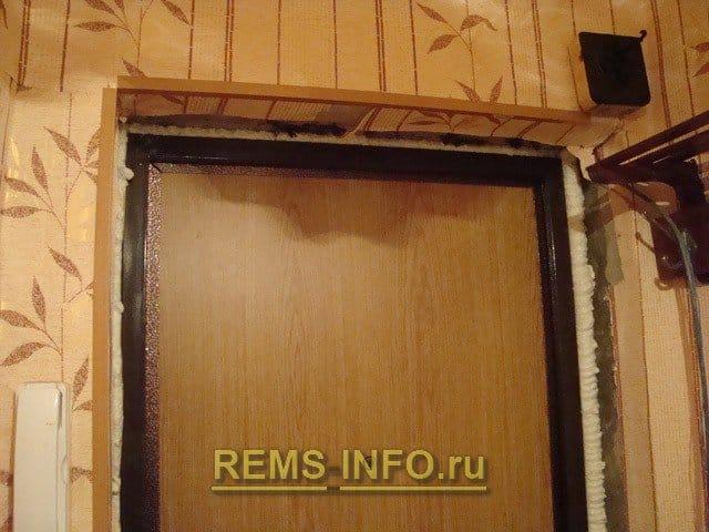 Облицовка для входных дверей своими руками 55