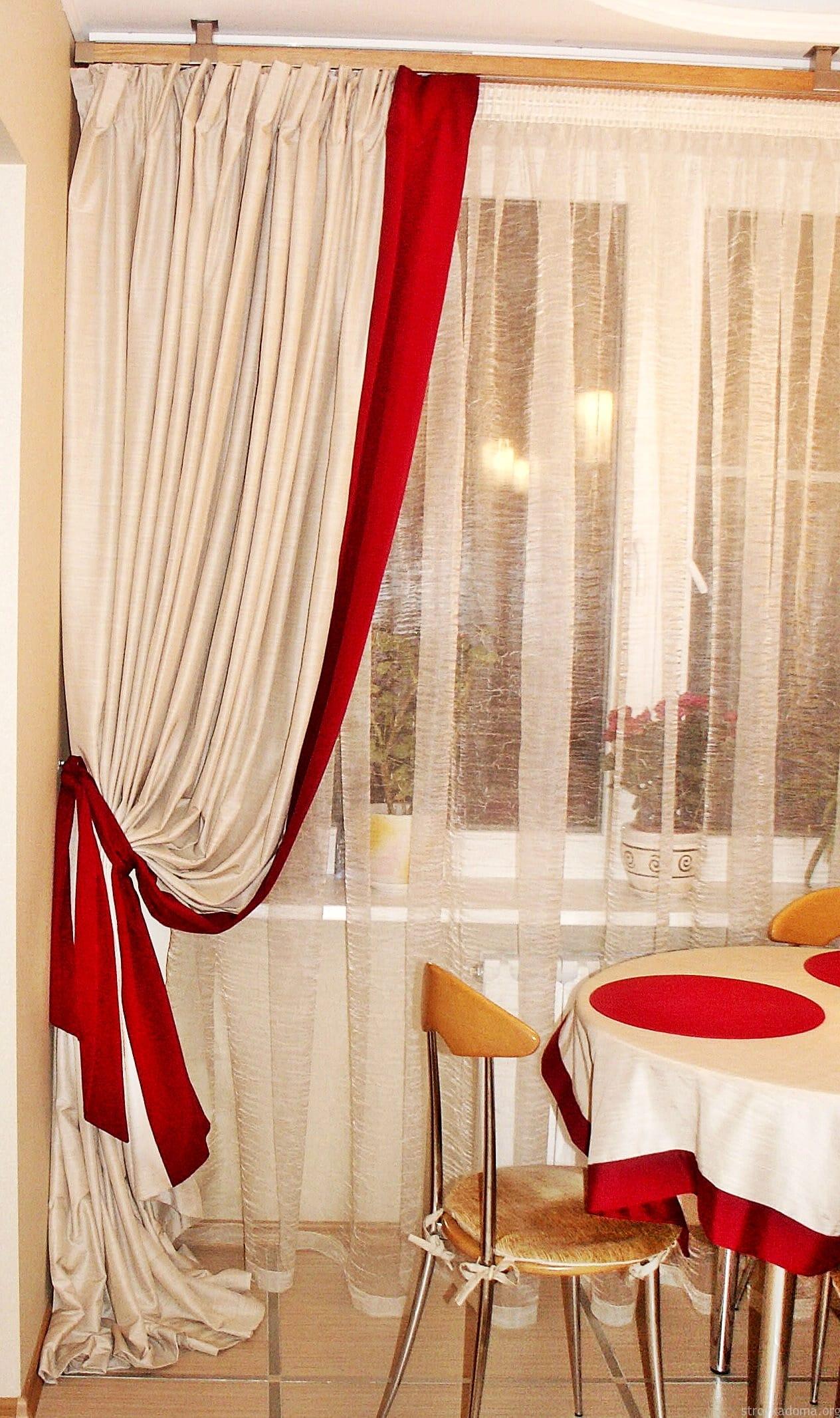 Какие шторы на кухне в моде фото