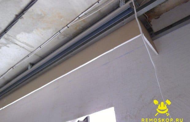 Потолок из гипсокартона своими руками под шторы