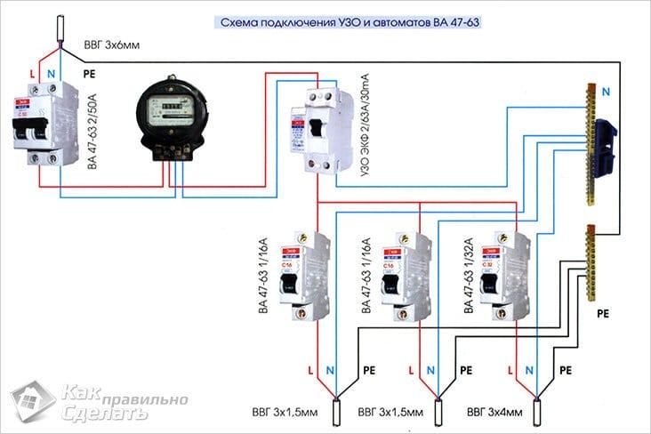 Схема подключения электричества в гараже