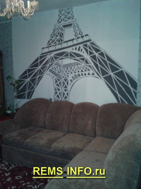 Монохромний малюнок на стіні своїми руками: навіть якщо ви «криворукі».