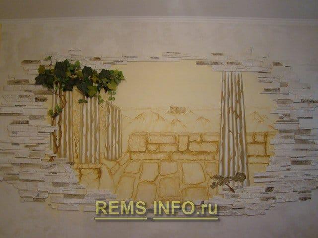 Картина на стіні своїми руками: давньогрецький пейзаж з глини.