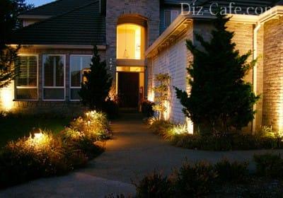 Архітектурна підсвітка фасадної частини будинку: хитрощі світлового декору