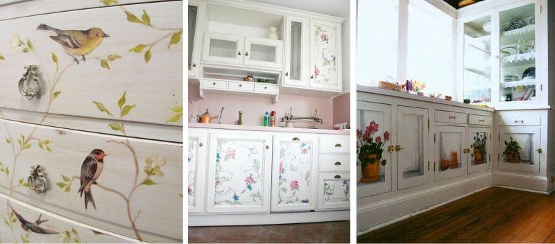 Декупаж кухонный гарнитур своими руками фото 380