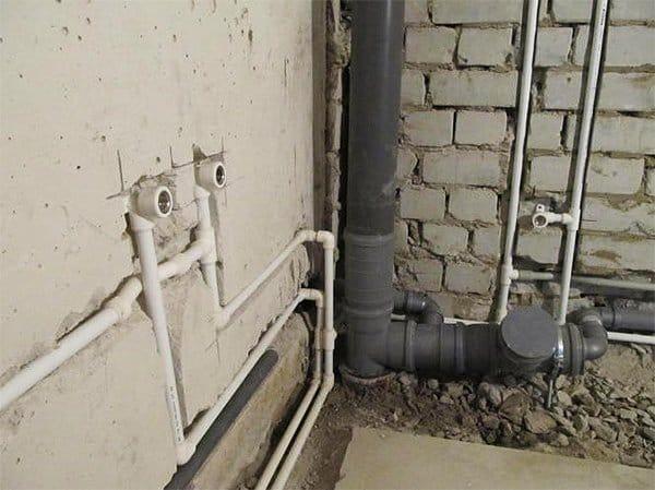 Разводка канализационных труб в ванной и туалете своими руками 496