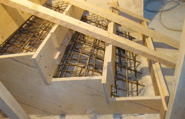 Опалубка для лестницы своими руками 758