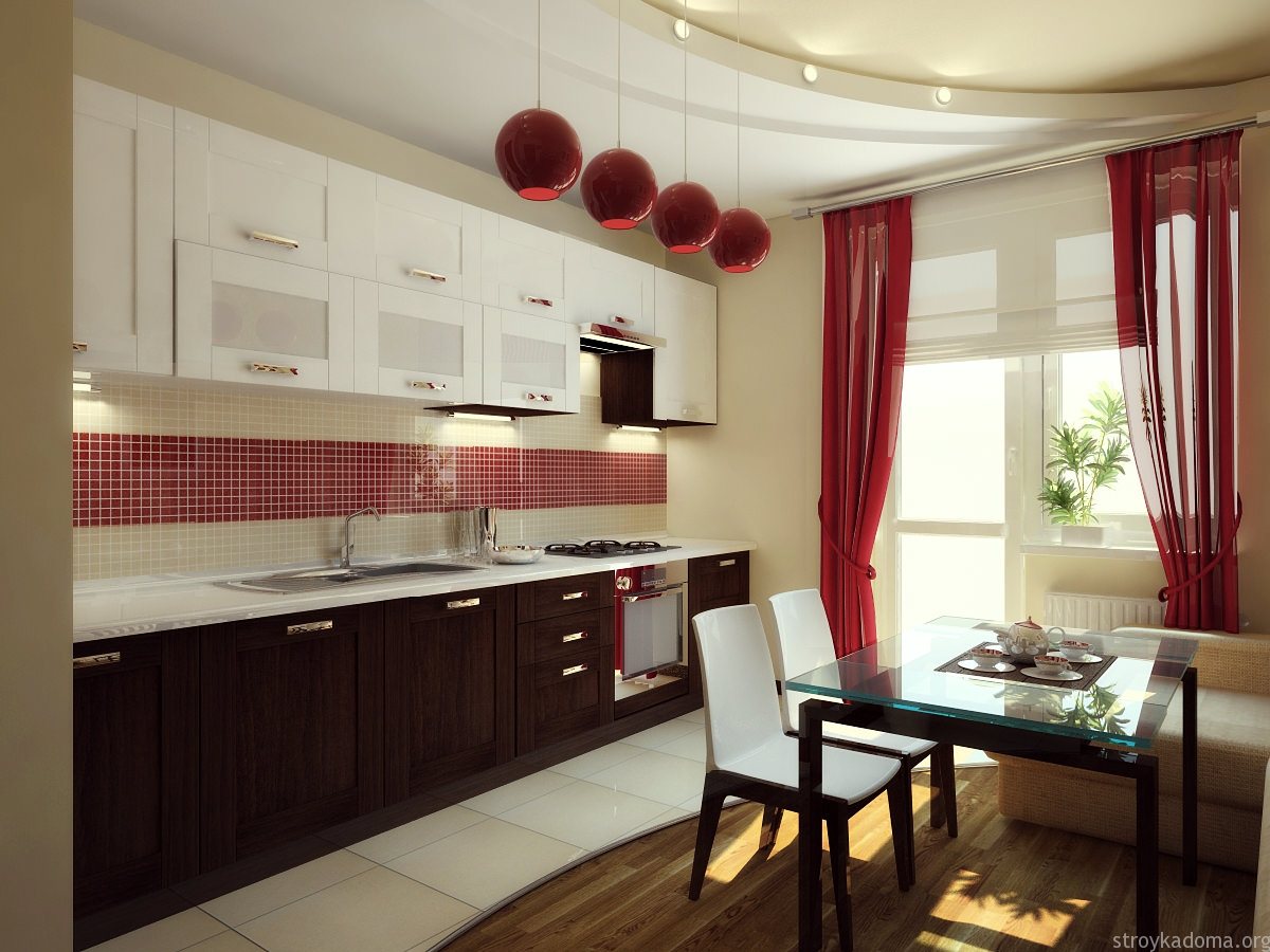Дизайн кухни 10 штор на кухню