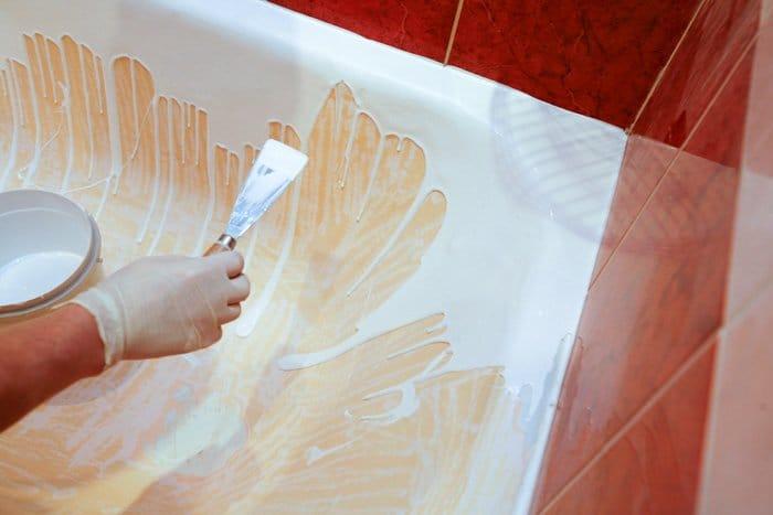 Покрасить ванну акрилом своими руками