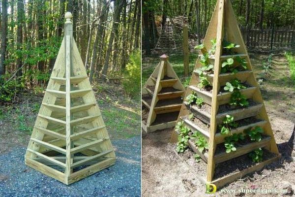 Как сделать пирамиду для клубники пошагово