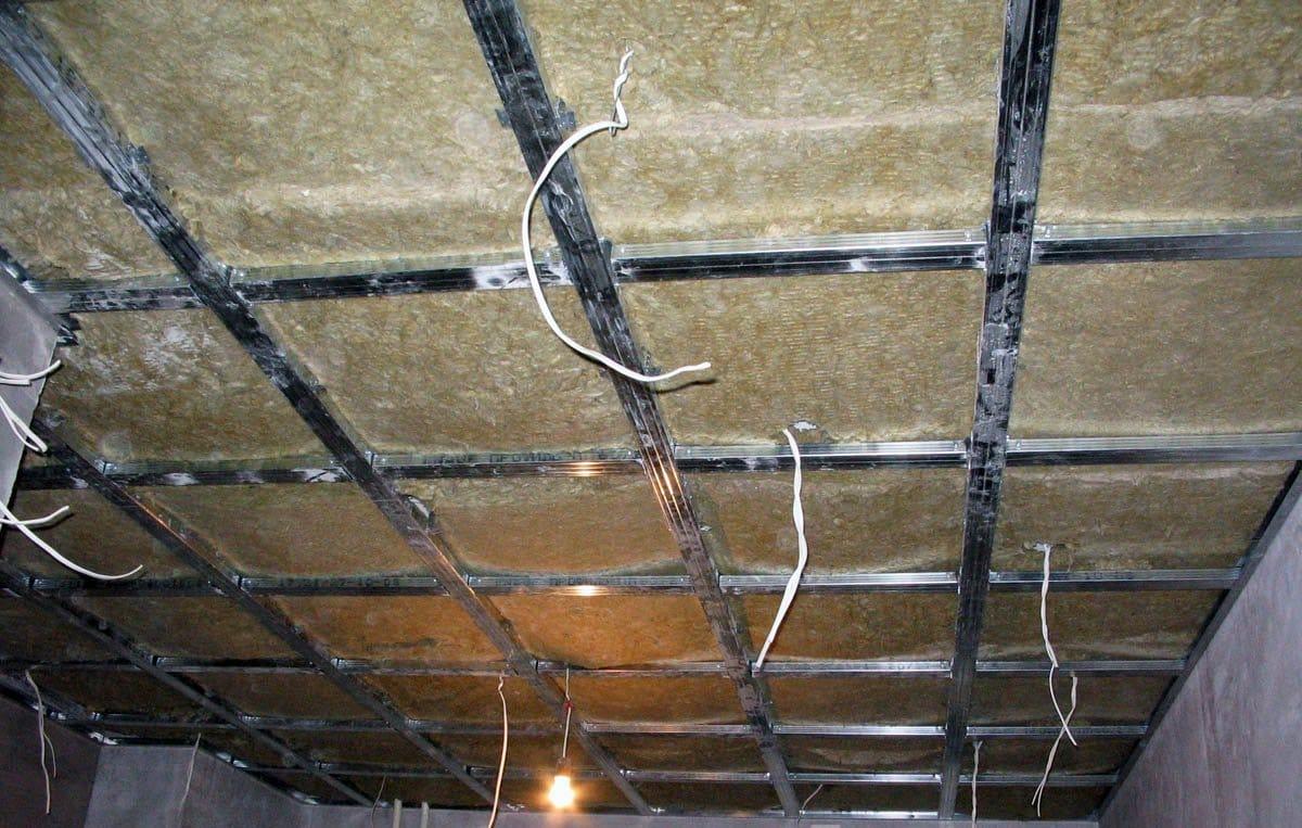 Подвесные потолки из гипсокартона монтаж своими руками