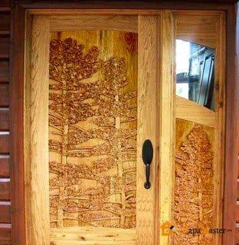 Деревянные двери своими руками с фото