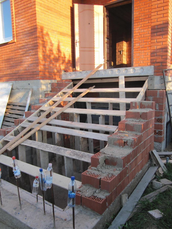 Лестница из кирпича своими руками в доме 42