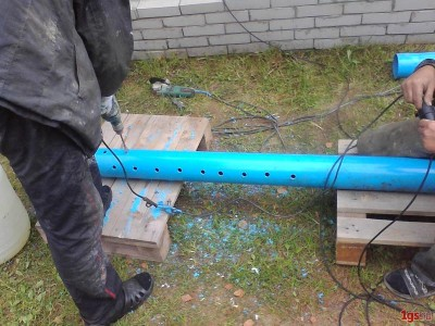 Скважина из пластиковых труб своими руками 278