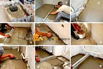 Как сделать стяжку в квартире своими руками 1007