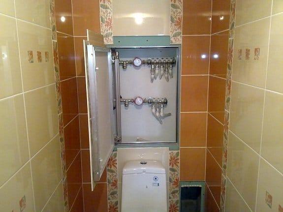Как сделать дверцу в туалете для доступа к стояку своими руками 97