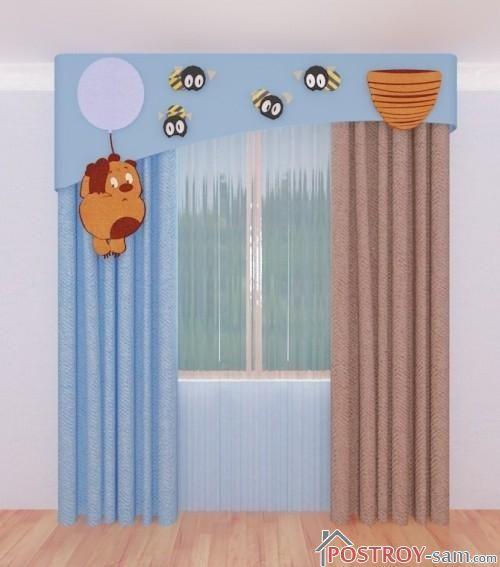 Декор штор в детской своими руками фото идеи 61