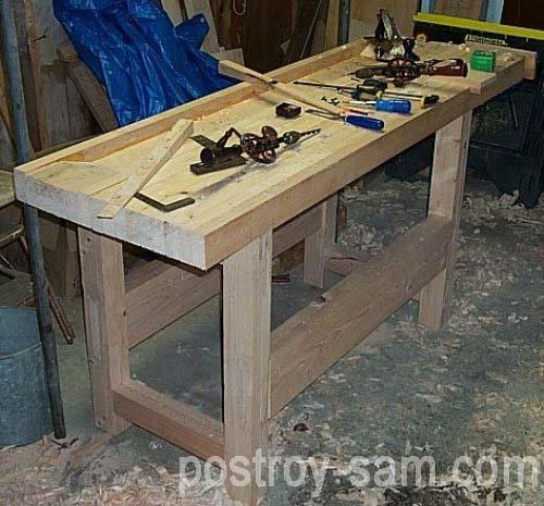 Столярный стол своими руками фото 48