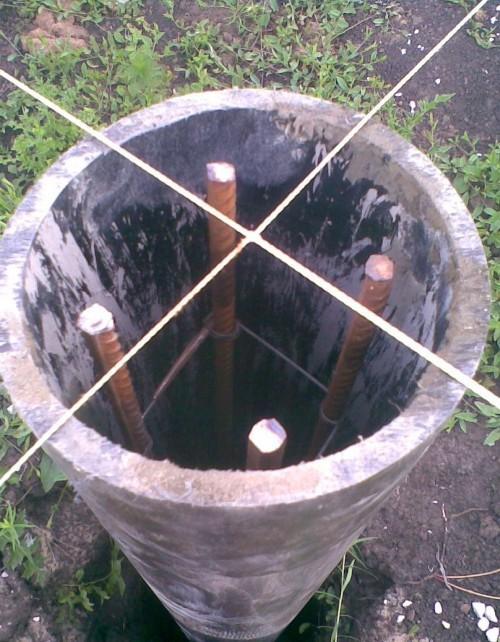 Фундамент на асбоцементных трубах своими руками 813