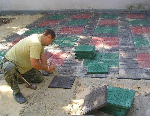 Тротуарная полимерная плитка своими руками 705