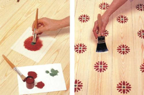 Как сделать рисунок на деревянном полу