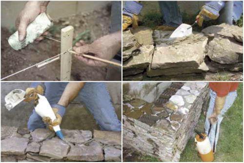 Как сделать стенку из цемента