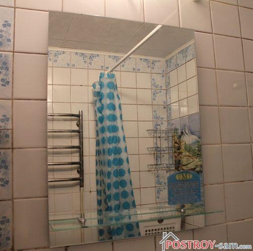 Установка дзеркала у ванній своїми руками. Способи кріплення