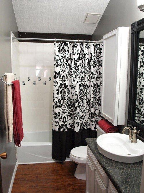 Шторки для ванної кімнати – креативимо по повній програмі