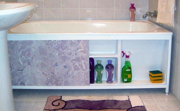 Экран для ванны своими руками из пластиковых панелей