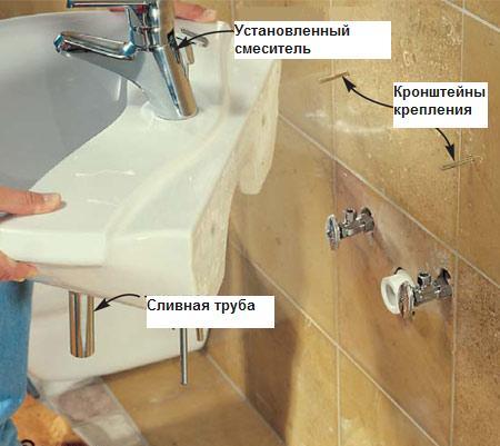 Установка раковини у ванній кімнаті – складна проблема вирішується просто