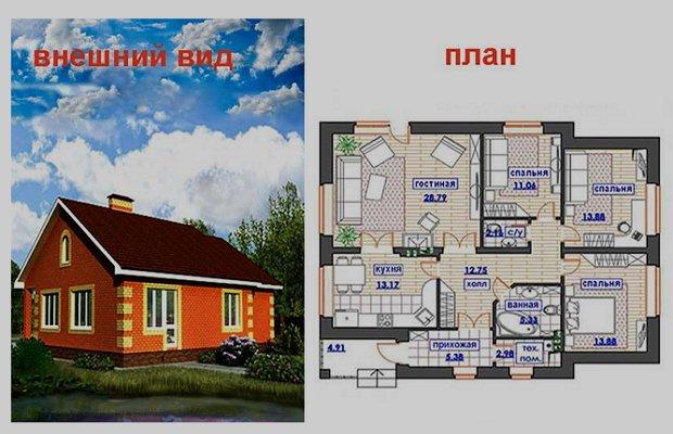 Дома проекты одноэтажные своими руками 7