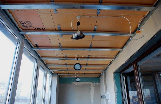 Как сделать пластиковый потолок на лоджии 266