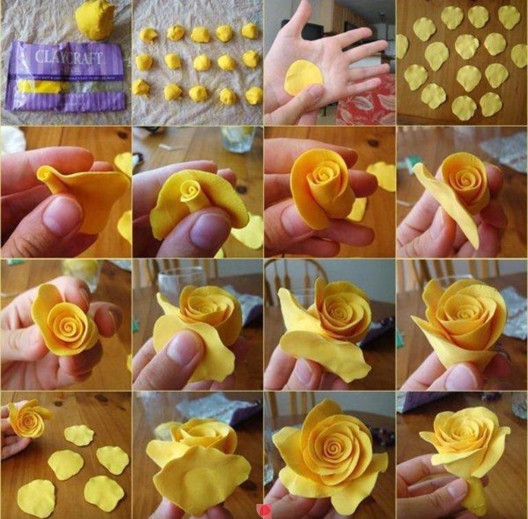 Цветы из мастики своими руками пошагово 817